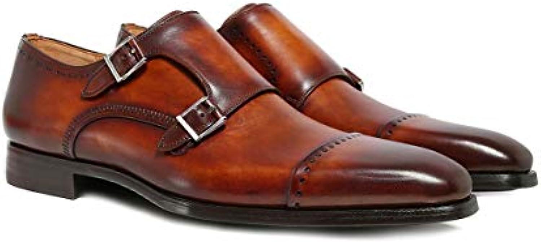 Magnanni Hombres Zapatos de Correa Doble Monje del Trueno Coñac -