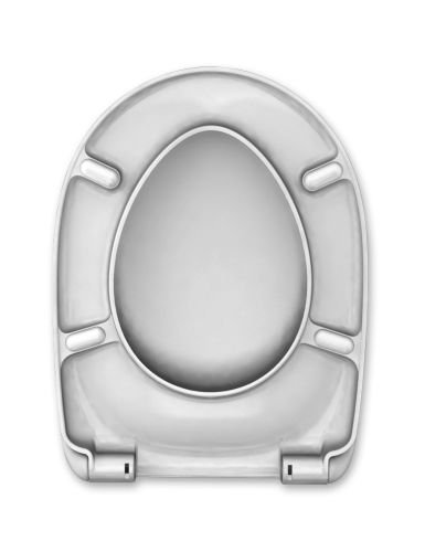 CEDO WC Sitz Daytona Beach, weiß mit Absenkautomatik Softclose Classic®, abnehmbar mit Takeoff Original® Abnahmefunktion; aus Duroplast für D-Shape Keramiken mit Befestigung