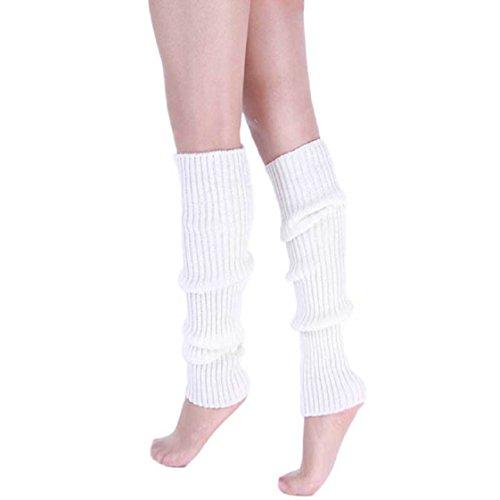 Vovotrade ❤❤ Neue Art- und Weisefrauen-warme Winter-klassische Bein-Wärmer-strickende Socken (Weiß) (Weiße Jeans Socken,)