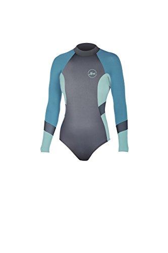 Long Sleeve Springsuit (XCEL 2mm Kailani Cheeky Bikini Schnitt Rückseite Zip Long Sleeve Springsuit 6 Gunmetal/Honey Dew/Lake Blue)