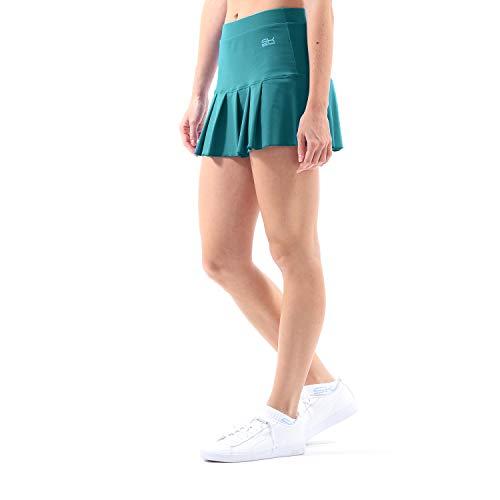 Sportkind Mädchen & Damen Tennis, Hockey, Golf Faltenrock mit Innenhose, Petrol grün, Gr. L