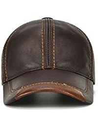 QARYYQ Cappello da Baseball in Pelle Bovina Sottile di Mezza età E Vecchio  Cappello di Pelle 88956b125723