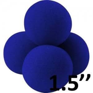 Boîte de 4 balles bleues en mousse Goshman super-soft 1,5'' (Diam. 3,75 cm)