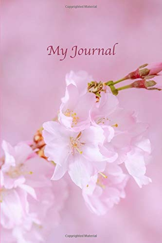 My Journal. Cherry Blossom Cover Design. Blank Journal Notebook Planner Diary. - And Bath Von Day Body Beautiful Works