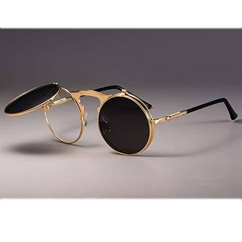 Hjbh123 HJBH Sonnenbrillen XHM-51 Herren Sonnenbrillen Polarized UV400 Protection Driving Hip Hop Sonnenbrille - Schwarz