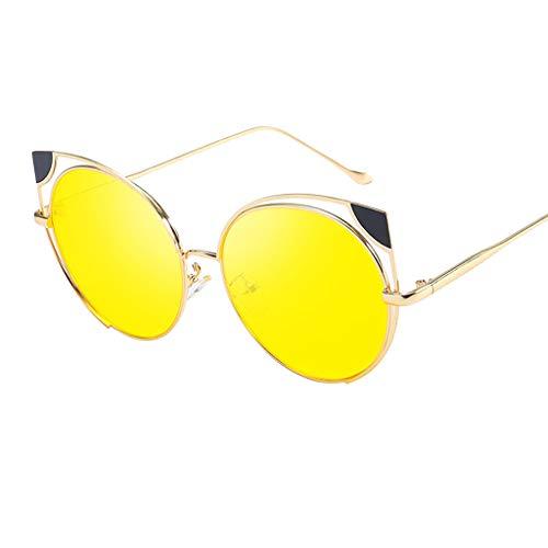 Syeytx Frauen Weinlese Augen Sonnenbrille Retro Eyewear-Art- und Weisestrahlungsschutz 5 Farben
