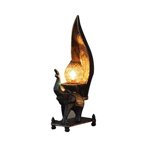 Lámparas de mesa retro de madera maciza, lámpara de mesa de estudio...