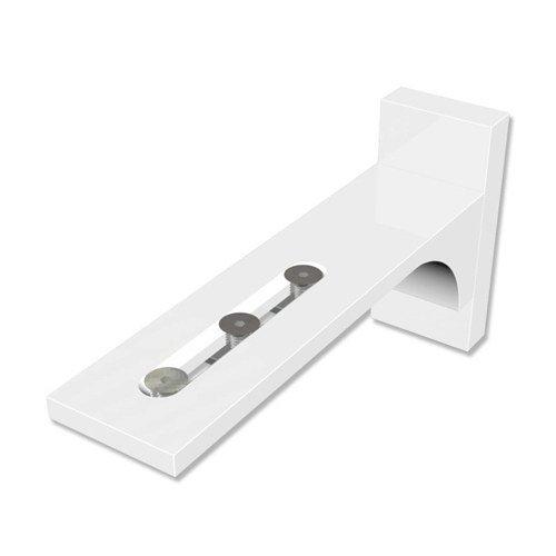 Interdeco Wandträger (4 Sets) Weiß Wandabstand 6,5-11,5 cm für Gardinenschienen / Vorhangschienen, Variax