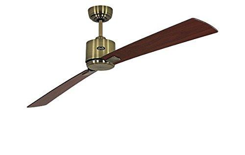 Kirsche Antik Messing (Energiespar Deckenventilator Eco Neo II 180 cm Messing antik Flügel Nussbaum / Kirsche)