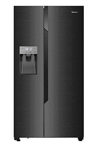 Hisense RS694 N4TF2 Side-by-Side/A++/179.3 cm/344 kWh/Jahr/368 L Kühlteil/167 L Gefrierteil/Selbstschließendes Türsystem/Schwarz