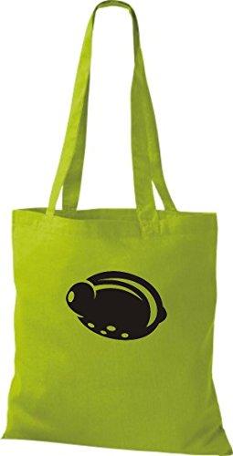 ShirtInStyle Stoffbeutel Baumwolltasche Dein Lieblings Obst und Gemüse Zitrone Farbe Pink kiwi