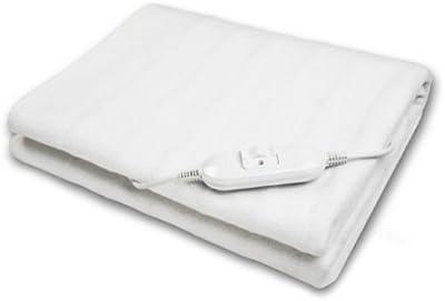 Justmoment - Manta térmica eléctrica para cama de matrimonio, con dispositivo de seguridad