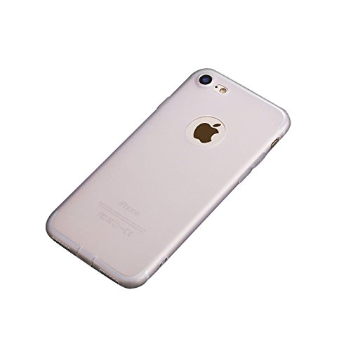 Minto Hülle für iPhone 7 Plus / iPhone 8 Plus - Slim TPU Soft Touch Silikon Cover Case Handy Schutzhülle - matt blau Weiß -i8