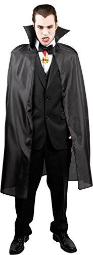 Preisvergleich Produktbild Boland 96922 - Vampirumhang schwarz mit Stehkragen, 120 cm