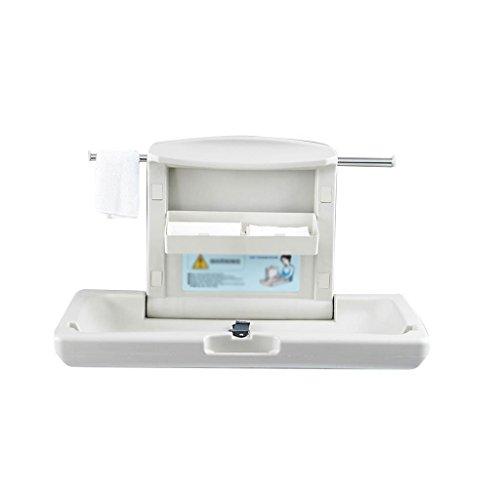Bébé Table à langer Table à langer PP Station de soins pliable peut être fermé Salle de bain mural Sécurité Nursing Bed 20 kg de charge pour 0~2 ans bébé