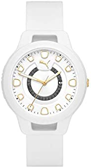 Puma Reset V1 Women's White Dial Silicone Analog Watch - P