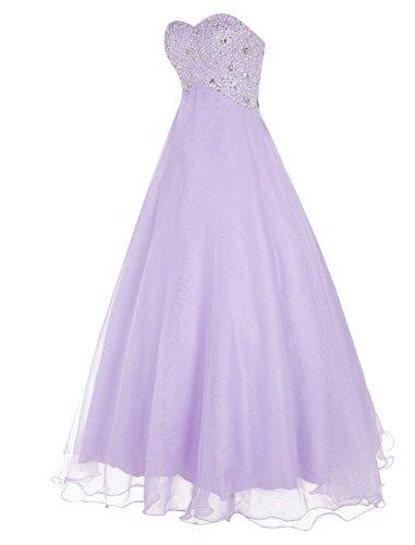Dressystar Langes Bandeau Organza Brautjungfernkleid Abendkleid elegantes trägerloses Ballkleid Champagner