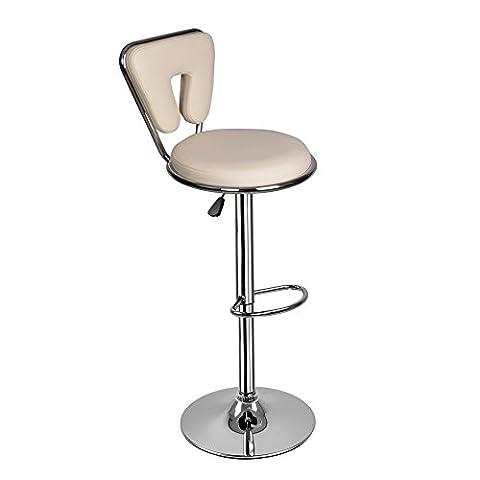 Tabouret Bar Creme hauteur reglable 89 - 110m Tabouret Chaise cuisine base 41.5cm 2 ans garanties-Creme
