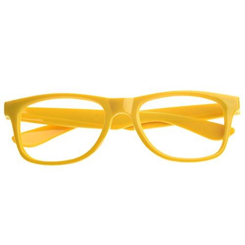 TOOGOO(R) Stilvolle Jungen Maedchen Kinder Kinder Party Zubehoer Brillen Rahmen Keine Linsen Neu -gelb