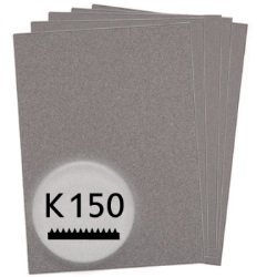 kwb 50 x Schleifpapier K 150 Finishing Holz und Lack  840150 (Aluminiumoxyd, Bogen 230 x 280 mm)