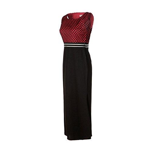 La vogue Damen Elegantes Abendkleid Ballkleider Partykleider Rot