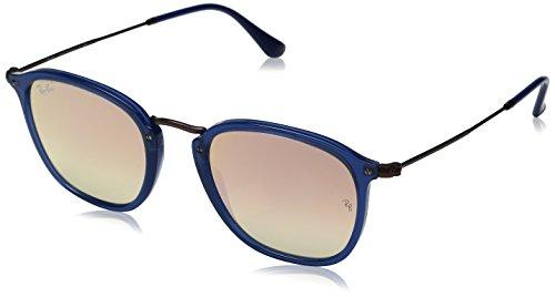 Ray-Ban RAYBAN Unisex-Erwachsene Sonnenbrille RB2448N, Blau (Transparent Bluette/Copperflashgradient), 51