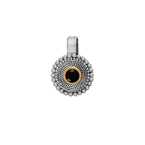 Fashion Honor Eid Gold & Black, Silver Plated Nose Pin For Women
