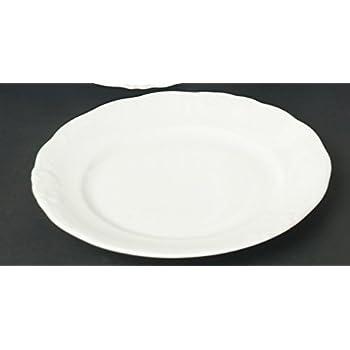 Ole Weiss 6 Kuchenteller Dessert Teller flach 21cm für 6 Personen Neu Rund
