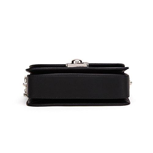 Spalla Delle Donne Traversa-corpo Bag In Pelle PU Catena Pacchetto Borsa Frizione Satchel Black