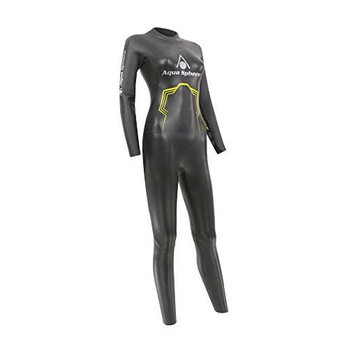 Aqua Sphere 2016Pursuit Damen Triathlon Neoprenanzug Open Water Swim Damen, schwarz/gelb