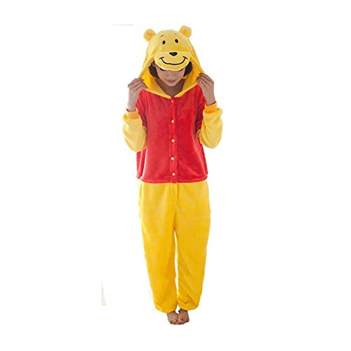 Sleepsuit Homewear Lounge Kostüm Wear Cosplay Pyjamas - Mcdslrgo Damen Strampelanzug Gr. Medium, Winnie Pooh