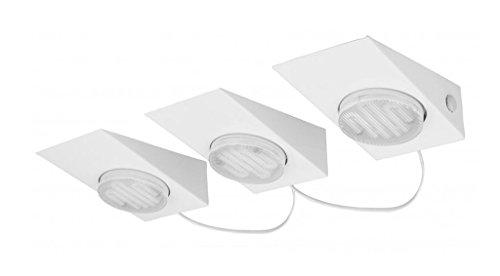 KHL LED Küchen Aufbauleuchten Unterschrankleuchten Set 3x7W GX53 weiß Dreiecksleuchten Set KH896088