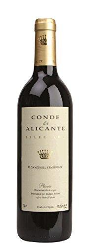 6x 0,75l - 2017er - Conde de Alicante - Monastrell - semidulce - Alicante D.O. - Spanien - Rotwein lieblich