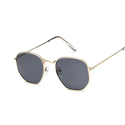 OULN1Y Sport Sonnenbrillen,Vintage Sonnenbrillen,Polygonal Sunglasses Women Glasses Lady Retro Metal Sun Glasses Female Vintage Mirror Feminino Uv400