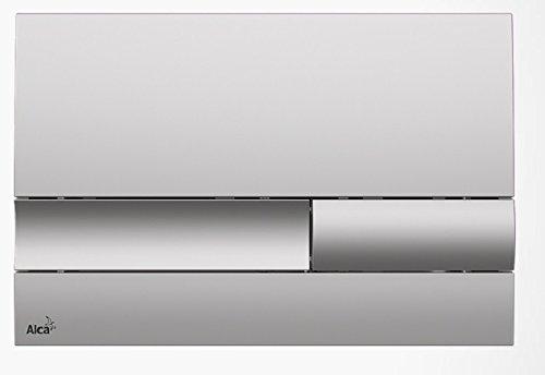 Drückerplatte für WC Vorwandelemente WC-Spüle Farbe Chrom Matt 3L/6L Betätigungsplatte Platte Betätigungstaste