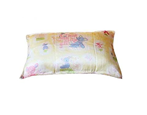 HYSENM Kissenhülle für Kinder Maulbeerseide Hautfreundlich Atmungsaktiv Weich Farbecht mit Reißverschluss Kissenbezug Silk Pillowcase Kopfkissenbezug, Bär-gleb 30x45cm