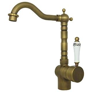 Retro Waschtisch Küchen Armatur Waschbecken Armatur Einhebelmischer Einhand Mischbatterie Nostalgie Wasserhahn Hochdruck Bad Antik