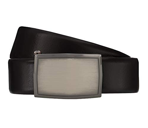 LLOYD Men's Belts Gürtel Herrengürtel Ledergürtel Rindleder Schwarz 4066, Länge:95, Farbe:Schwarz