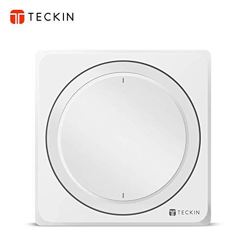 Interrupteur Mural Intelligent, Compatible avec Alexa, Google Home, IFTTT, TECKIN Commutateur Wifi avec Télécommande et Commande Vocale, Réglage de la Minuterie,Fil2,4GHz,Neutre Requis