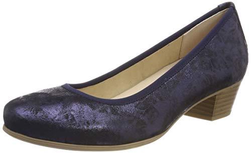 CAPRICE Damen Gerda Pumps, Blau (Ocean Shin.Sue 862), 39 EU
