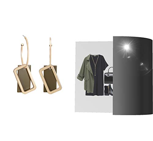 YISHIOR Temperament U-förmige Ohrringe Ohrringe, Ohrringe 7Cm * 2Cm und Acryl-Design-Konzept