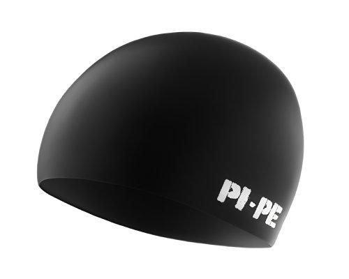 PI-PE Erwachsene Bademütze Classic, Schwarz, One Size, PBC-1-S -