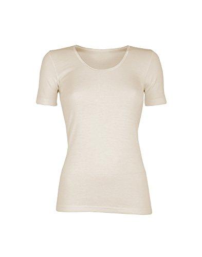 Dilling Merino T-Shirt für Damen - aus 100% Bio-Merinowolle Natur 46 -