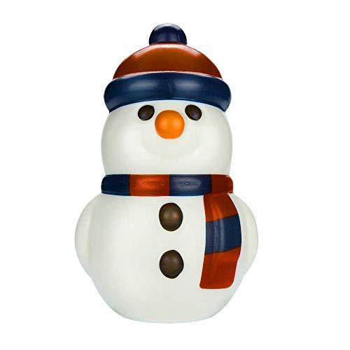 Amoy.b squishy simulation - pupazzo di neve in pu, serie natalizia