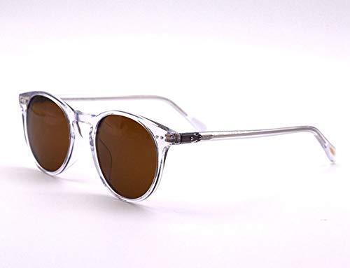 LKVNHP Retro Vintage Sonnenbrillen Designer Damen Herren Polarisierte Sonnenbrillen Sir O'Malley Male Driving Outdoor SonnenbrilleKlar Vs Braun