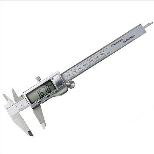 GCCLCF Alle metallischen Digital-Kunststoff-Messer elektronischen Vernier-Kaliper digital Display 150mm hoher Carbon-Stahl elektronischen Vernier Kaliber -