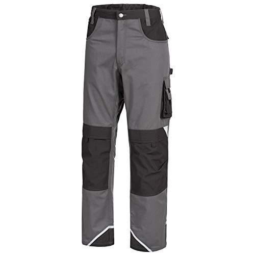 Nitras Motion Tex Plus Arbeitshose - Arbeitshosen lang für Herren & Damen - Arbeitskleidung Bundhose Schutzhose Arbeitsbundhose - Grau Größe 52
