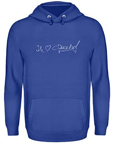 Ich Liebe Dackel Schriftzug Picasso - Unisex Kapuzenpullover Hoodie -3XL-Royal Blue -