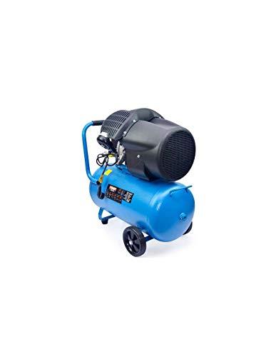 Großmeister - Luftkompressor 50 Liter 220 V, zwei Zylinder 356 l / min, 2200 W / 3 cv, 8 bar / 118 psi, Luftfilter, Geschwindigkeit 2850 / min, leiser Kompressor 72/94 dB, Sicherheitsventil