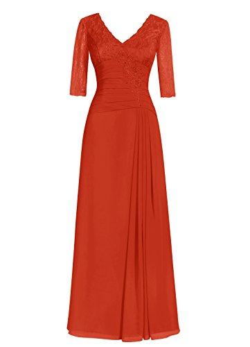 Dresstells, A-ligne robe longue de mère de mariée, robe de soirée formelle, robe de demoiselle d'honneur Rouge